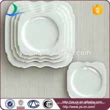 White Square Großhandel Restaurant Dinner Plate