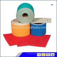 rollo enorme de papel abrasivo de alta calidad / rollo de papel de lija / rollo de papel de arena