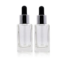 Square Glass Dropper Bottles Essence Oil Bottles