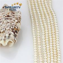 Venta al por mayor hilo suelto perla 4 mm AAA cultura ronda perla filamento