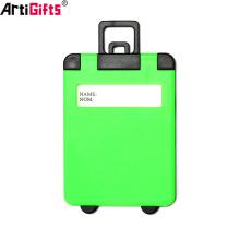 Directo de fábrica equipaje de equipaje de la venta etiquetas de dirección de los titulares de plástico duro