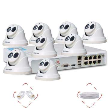 H.264 1.3MP Wireless Wifi NVR Kit Luar Tahan Air