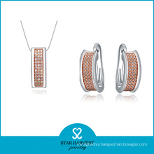 Charming Anniversary Silver Jewellery Set for Lady (J-0009)