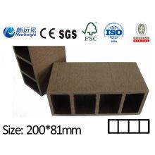 Hochwertige WPC Plank für Pergola Strahl mit SGS CE Fsc ISO Garten Plank Dekorative Board für Garten Zaun Lhma074