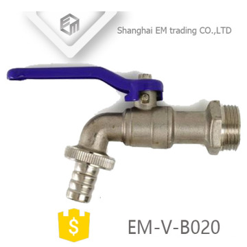 EM-V-B020 Torneira exterior de latão cromado com cabo de aço niquelado e violeta