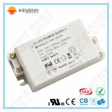 15W 1250ma fonte de alimentação LED de 12 volts EMC LVD ROHS aprovado transformador de tensão constante