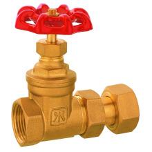 Válvula de compuerta del metro de agua del latón, válvula de cobre amarillo, válvula de 109 para el contador de agua