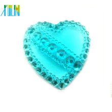 jewelry accessory fluorescence color heart frosted resin rhinestone