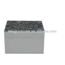 CPA-WPSBXS Abalone Shell kleinste Schmuckschatulle mit weißer Farbe