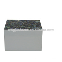 CPA-WPSBXS Boîte à bijoux en béton à base d'ormeil avec peinture blanche