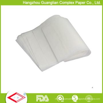 Papel de cozimento de pergaminho de silicone antiaderente 420X620mm