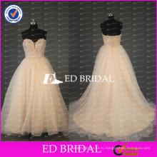 2017 ЭД новой возлюбленной Свадебный дизайн бисером кружево аппликация лиф бальное платье из органзы свадебное платье