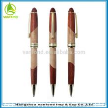 Remplissage de haute qualité stylo à bille bois promotionnel avec stylo métal