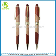 Высокое качество рекламной древесины шариковая ручка с металлической ручкой пополнить