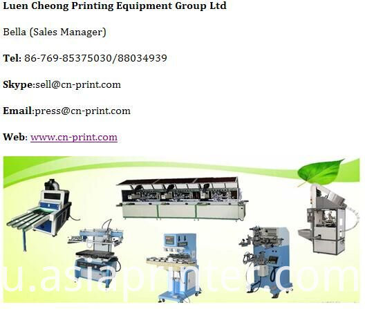 18.9L mineral water bottle screen printer Machine