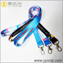 Professionally printed polyester lanyard with metal hook