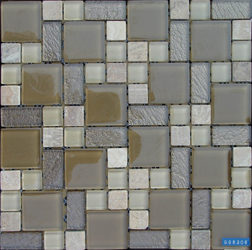 Glass Stone Mixed Mosaic Tile