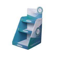 Expositor APEX de papel azul claro para atacado