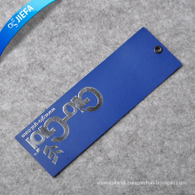 Custom Hot Silver and Embossed Logo Paper Tag/Hang Tag