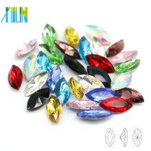Excelente calidad China Navette Crystal Pointback lujo piedra decorativos abalorios botones para el vestido de boda C4228