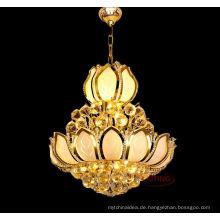Großhandelsfabrik-Preis-Gold überzogener Kristallhochzeits-Leuchter LT-75007