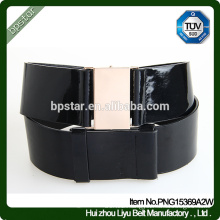 Genuine Leather Belt Lady Female Wide Strap Cintos de couro Skinny Fashion Black Women buckle waistband