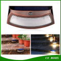 Creative Cambered 8LED High Power Motion Sensor Solar Wall Light Smile Garden Wall Lamp Solar Stair Safety Lights