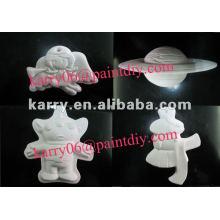 diy juguete de pintura para niños, regalos promocionales, varias formas de juguetes de pintura de cerámica