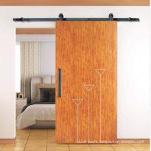 Quiet Morden Hardware Sliding Solid Wood Barn Door