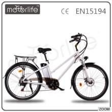 MOTORLIFE / OEM EN15194 marque vélo électrique 36V 250W 26inch pour adultes