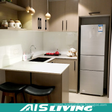 Budget Kitchen Cabinets with Melamine MDF Specialist for Economic Apartments (AIS-K056)