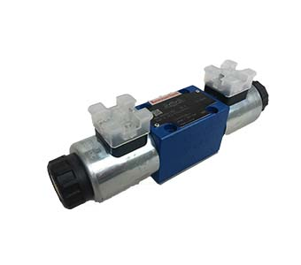 Directional spool valve with solenoid actuation