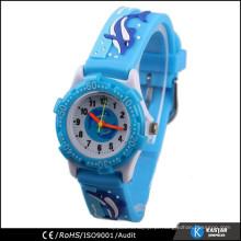 Borracha de silicone relógio de pulso de pulseira 3D crianças