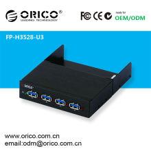 ORICO FP-H3528-U3 Unidade de disco rígido Hub USB3.0, Gabinete do computador Painel frontal USB 3.0