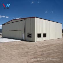 Low price professional designed Prefabricated portal metal frame workshop prefab steel structure aircraft hangar tent
