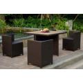 Multi-purpose outdoor rattan combine dining set