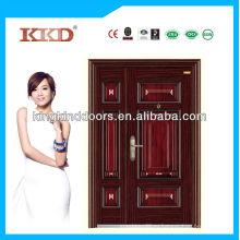 Популярные в Ближнем Востоке Дизайн экстерьера двойной двери KKD-520B сделанные в Китае