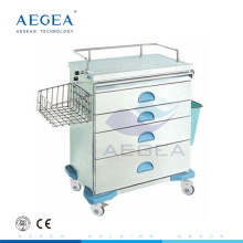 AG-AT019 Top grade clinic movable on wheels hospital anesthesia medical trolley