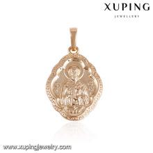 33131 xuping 18k plaqué or mode cuivre pendentif pour les femmes