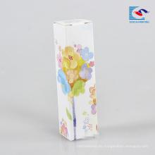 Encantadora flor lipgloss cajas de embalaje sin etiqueta