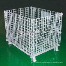 Recipiente plegable galvanizado sumergido caliente caliente del alambre para el almacenamiento