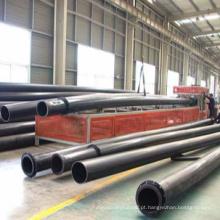 HDPE / UHMWPE resistente ao desgaste de grande diâmetro areia / tubo de dragagem de chorume