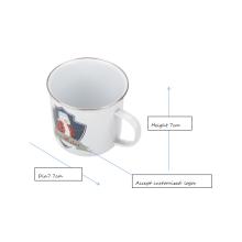 Tasse de camping design blanc personnalisé