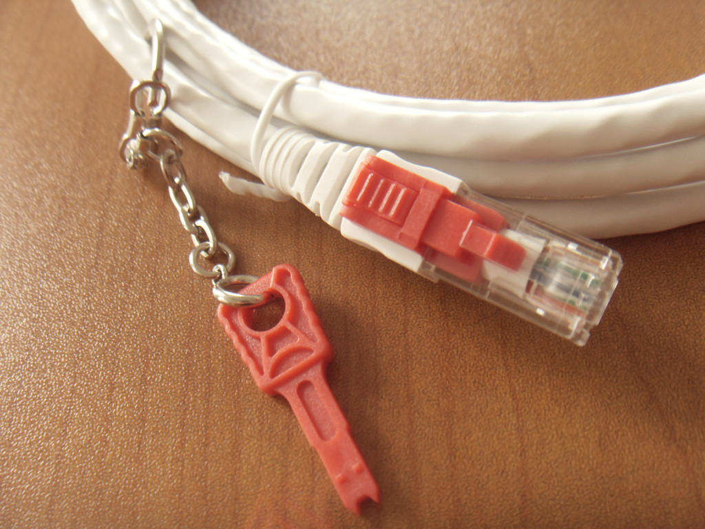 Locking Patch Cord With Key