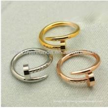 Joyería del anillo del clavo del anillo del clavo del anillo de la manera
