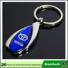 Blank Metal Keychain with Custom Epoxy Sticker Logo