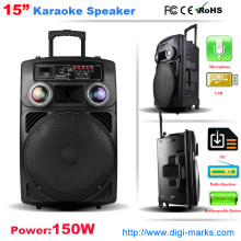 Tragbare Trolley Wireless Bluetooth Lautsprecher Karaoke-Lautsprecher