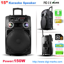 Altavoz inalámbrico del karaoke del altavoz de Bluetooth de la carretilla portátil