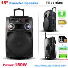Orador sem fio do karaoke do orador de Bluetooth do trole portátil