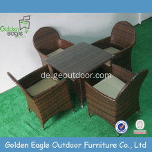 SGS genehmigt Stoff Material Wicker Dining Set